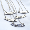 Group of banner style necklaces