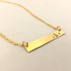 Personalised brass bar necklace