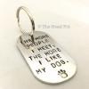 Personalised dog tag key ring