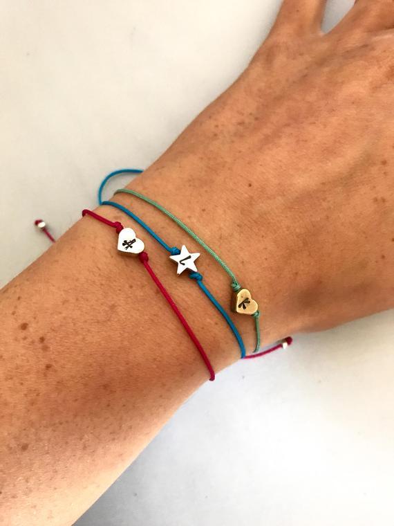 Hesrt & star bracelet
