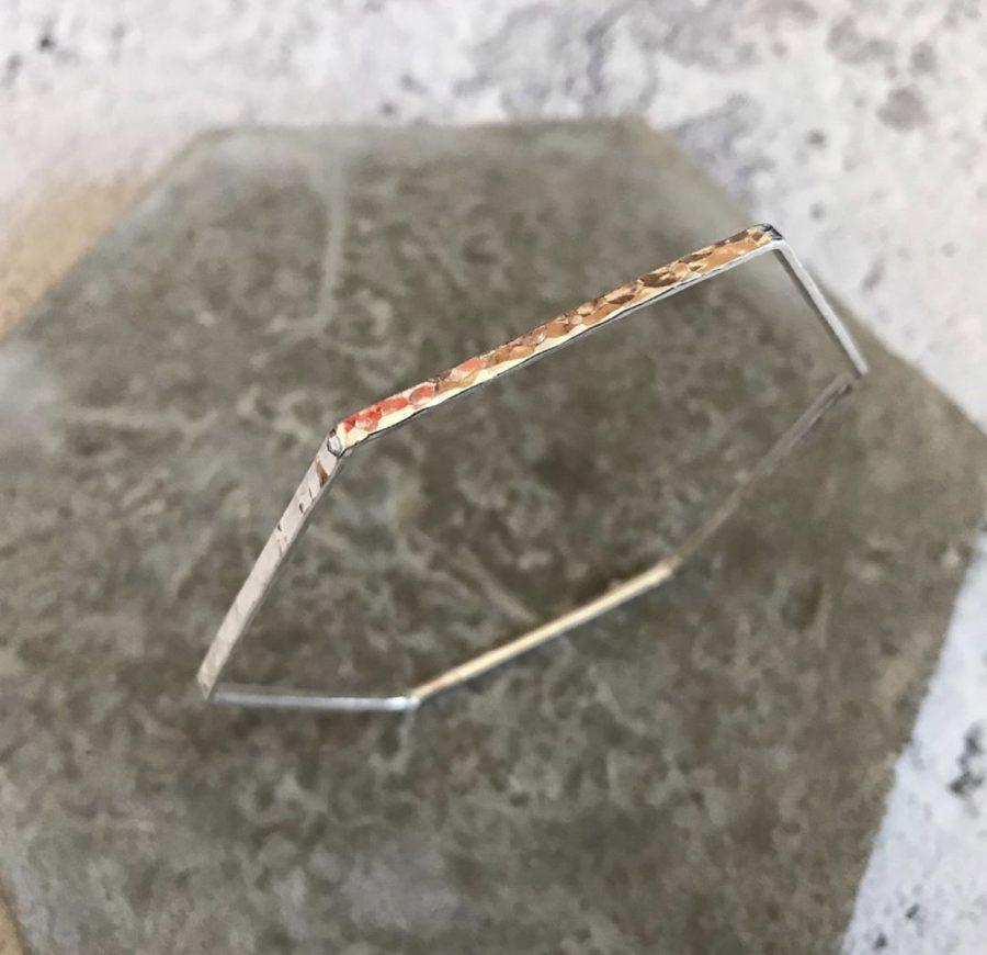 Sterling silver hexagon bracelet