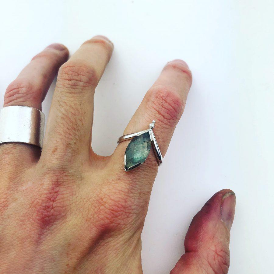 Labradorite & Silver