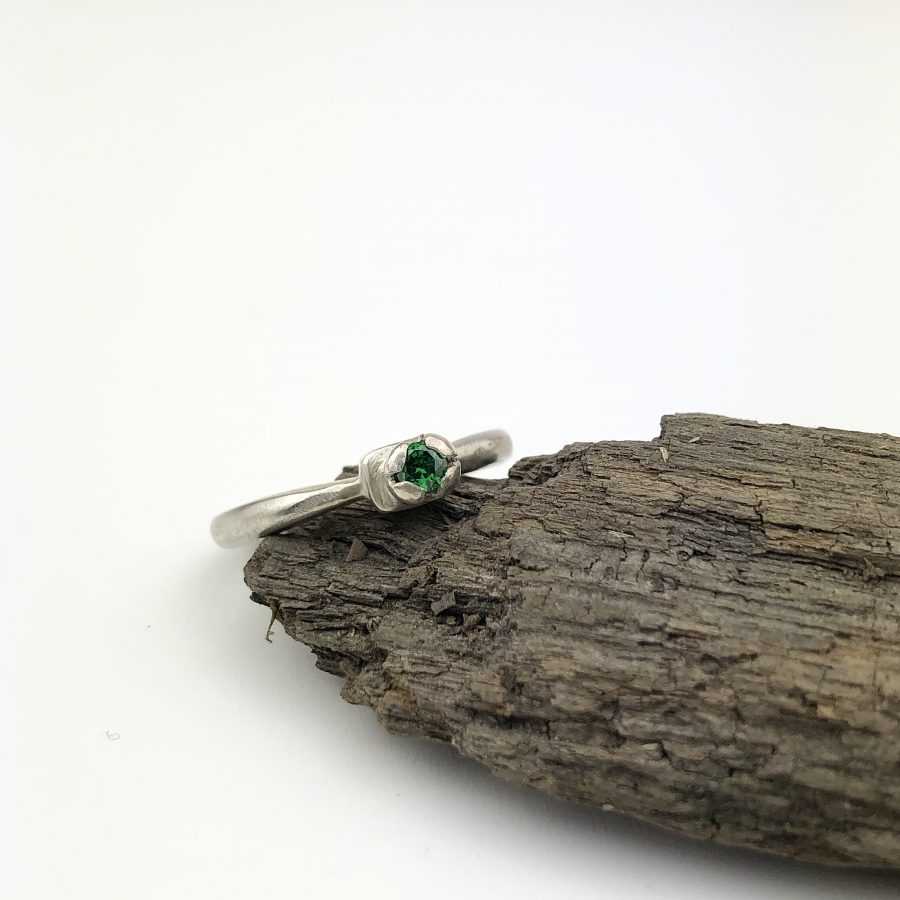 green CZ Ring